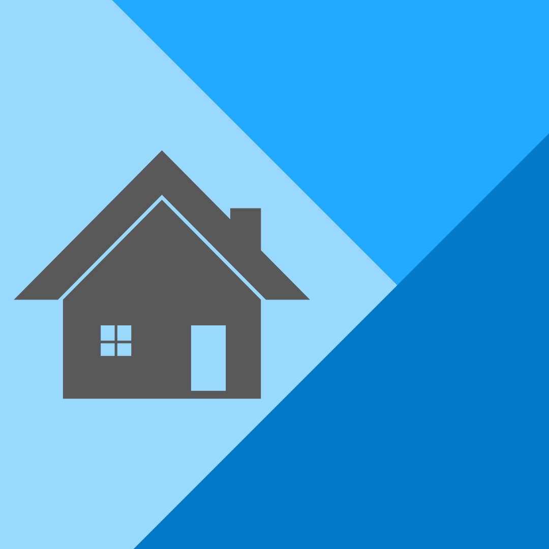 icon showing work from home service